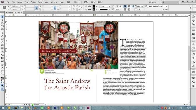 Tutorial Adobe InDesign: Menyiasati Judul dan Gambar yang Rame   Cetak Kalender