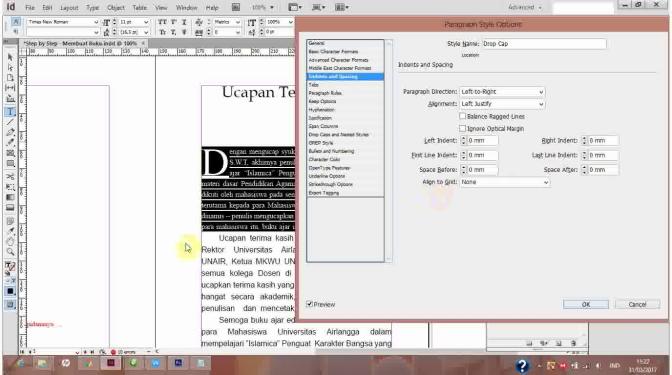 Step by step Membuat Buku (04): Membuat Style | Cetak Kalender Surabaya