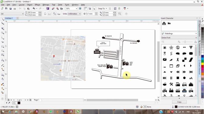 Tutorial CorelDraw: Membuat Peta untuk Undangan | Pesan Kalender Dinding